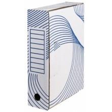 Короб архивный из гофрокартона с флексопечатью, корешок 80 мм, 322×80×240 мм, белый
