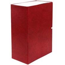 Короб архивный бумвиниловый на завязках «Феникс», 235×320×130 мм, красный мрамор