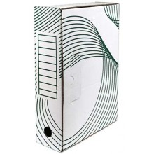 Короб архивный из гофрокартона с флексопечатью, корешок 80 мм, 330×80×240 мм, белый