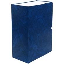 Короб архивный бумвиниловый на завязках «Феникс», 320×235×130 мм, синий мрамор