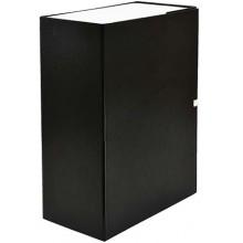 Короб архивный бумвиниловый на завязках «Феникс», 320×235×130 мм, черный