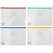 Папка-конверт пластиковая на молнии А5 Donau, прозрачный