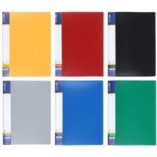Папка пластиковая с боковым зажимом и карманом Economix, толщина пластика 0,7 мм, ассорти