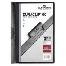 Папка пластиковая с клипом Durable Duraclip, А4, 60 л., черная