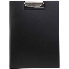 Планшет с крышкой Index, толщина 0,7 мм, черный