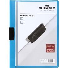 Папка пластиковая с клипом Durable Duraquick, А4, 20 л., синяя