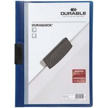 Папка пластиковая с клипом Durable Duraquick, А4, 20 л., темно-синяя
