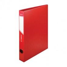 Папка пластиковая на 2-х кольцах inФормат, 40 мм, пластик 0,7 мм, красная