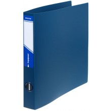 Папка пластиковая на 4-х кольцах inФормат, толщина пластика 0,7 мм, синяя