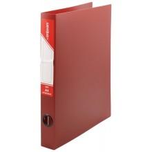 Папка пластиковая на 4-х кольцах inФормат, толщина пластика 0,7 мм, красная