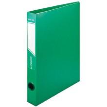 Папка пластиковая на 2-х кольцах inФормат, 40 мм, толщина пластика 0,7 мм, зеленая