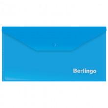 Папка-конверт на кнопке Berlingo, C6, 180мкм, синяя