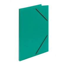 Папка пластиковая на резинке inФормат, толщина пластика 0,5 мм, зеленая