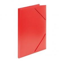 Папка пластиковая на резинке inФормат, толщина пластика 0,5 мм, красная