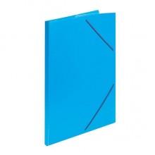 Папка пластиковая на резинке inФормат, толщина пластика 0,5 мм, синяя