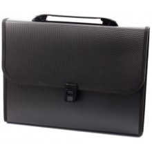 Портфель пластиковый 7 отделений inФормат, 330×250×30 мм, черный
