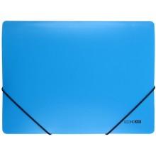 Папка пластиковая на резинке Economix, толщина пластика 0,5 мм, голубая