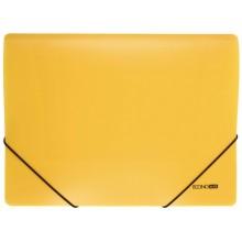 Папка пластиковая на резинке Economix, толщина пластика 0,5 мм, желтая