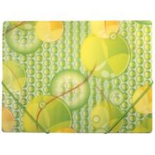 Папка пластиковая на резинке Fresh, толщина пластика 0,4 мм