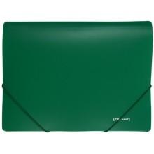 Папка пластиковая на резинке Format, толщина пластика 0,5 мм, зеленая