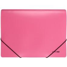 Папка пластиковая на резинке Economix, толщина пластика 0,5 мм, розовая