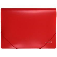 Папка пластиковая на резинке Format, толщина пластика 0,5 мм, красная