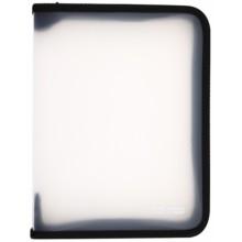 Папка пластиковая на молнии Economix, толщина пластика 0,5 мм,прозрачная с черным