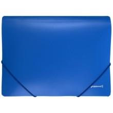 Папка пластиковая на резинке Format, толщина пластика 0,5 мм, синяя