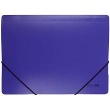 Папка пластиковая на резинке Economix, толщина пластика 0,5 мм, фиолетовая