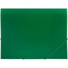 Папка пластиковая на резинке OfficeSpace А4, 500мкм, зеленая