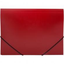 Папка пластиковая на резинке OfficeSpace А4, 500мкм, красная
