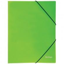 """Папка пластиковая на резинке Berlingo """"Neon"""" А4, 500мкм, неоновая зеленая"""