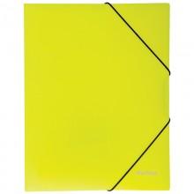"""Папка пластиковая на резинке Berlingo """"INeon"""" А4, 500мкм, неоновая желтая"""