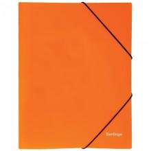 """Папка пластиковая на резинке Berlingo """"Neon"""" А4, 500мкм, неоновая оранжевая"""