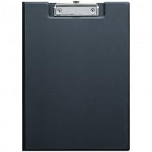 Папка-планшет с зажимом OfficeSpace, ПВХ, черный