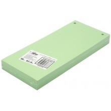 Разделители для регистраторов картонные Forpus, 105×240 мм, 100 шт., зеленые