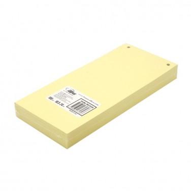 Разделители для регистраторов картонные Forpus, 105×240 мм, 100 шт., желтые