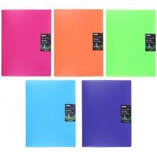 Папка пластиковая на 20 файлов Colourplay, толщина пластика 0,7 мм, ассорти (цена за 1 шт.)