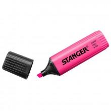 Маркер-текстовыделитель Stanger, розовый