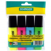 Набор маркеров-текстовыделителей Stanger, 4 цвета
