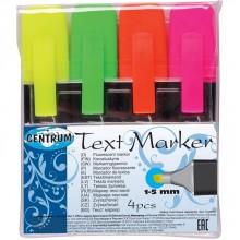 Набор маркеров-текстовыделителей Centrum, 4 цвета