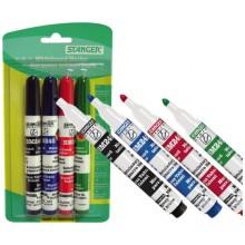 Набор маркеров для вайтбордов  STANGER BM240, 4 цвета
