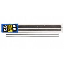 Грифели для автоматических карандашей Economix, толщина грифеля 0,5 мм, твердость ТМ, 12 шт.