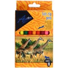 Фломастеры Africa, 18 цветов, толщина линии 2 мм, вентилируемый колпачок