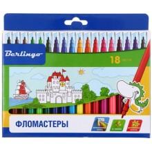Фломастеры «Замки», 18 цветов, толщина линии 1-2 мм, вентилируемый колпачок