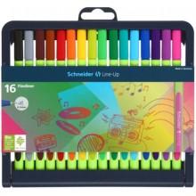 Набор ручек капиллярных в Schneider Line-Up, 16 цветов