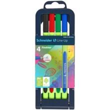 Набор ручек капиллярных Schneider Line-Up, 4 цвета