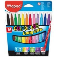 """Фломастеры Maped """"Color Pep's Long Life"""", 12цветов"""
