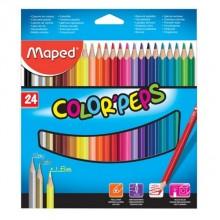 Карандаши цветные Maped Color peps, 24 цвета, длина 175 мм