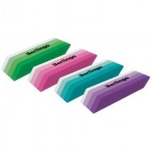 """Ластик Berlingo """"Stripes"""", прямоугольный, скошенный, термопласт. резина, цвета ассорти,"""